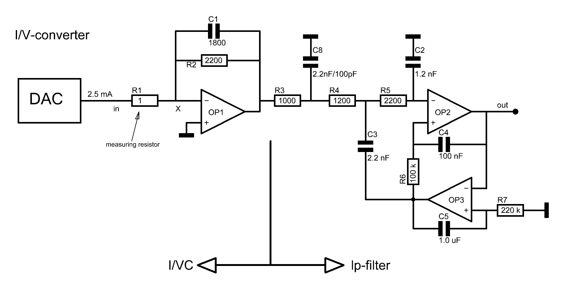 The I V Converter Circuit Diagram Definition Before Circuits Are Put Together They Will Be Simulated With Microsim8 A More Then Ten Years Old Sw Package On Pc Which Satisfies